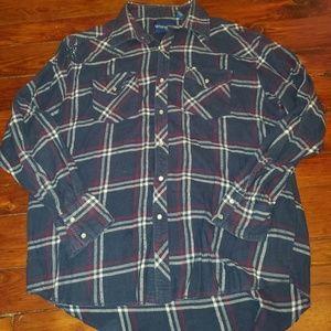 Wrangler Pearl Snap Western Shirt Large
